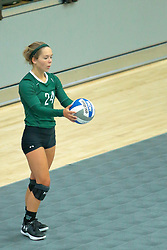 26 August 2017:  Taylor Krueger during the green-white scrimmage of the Illinois Wesleyan Titans in Shirk Center, Bloomington IL