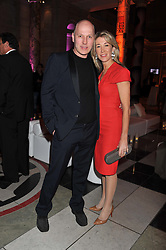 PEREGRINE & CAROLINE ARMSTRONG-JONES at the 50th birthday party for Jonathan Shalit held at the V&A Museum, London on 17th April 2012.
