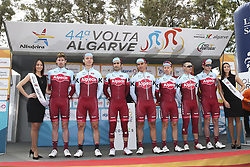 February 14, 2018 - Lagos, Portugal - Team Katusha Alpecin before the 1st stage of the cycling Tour of Algarve between Albufeira and Lagos, on February 14, 2018. (Credit Image: © Str/NurPhoto via ZUMA Press)