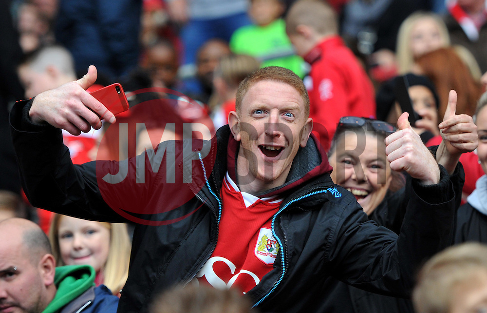 Bristol City supporter at Ashton Gate - Mandatory by-line: Paul Knight/JMP - 22/10/2016 - FOOTBALL - Ashton Gate Stadium - Bristol, England - Bristol City v Blackburn Rovers - Sky Bet Championship