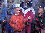Russian children at the joke fountains at<br />