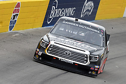 March 1, 2019 - Las Vegas, NV, U.S. - LAS VEGAS, NV - MARCH 01: Harrison Burton (18) Kyle Busch Motorsports (KBM) Toyota Tundra drives through turn two during qualifying for NASCAR Gander Outdoors Truck Series The Strat 200 on March 1, 2019, at Las Vegas Motor Speedway in Las Vegas, Nevada. (Photo by Michael Allio/Icon Sportswire) (Credit Image: © Michael Allio/Icon SMI via ZUMA Press)