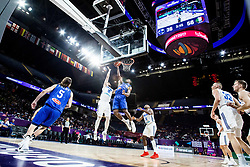 Matti Nuutinen of Finland vs Paul Biligha of Italy during basketball match between National Teams of Finland and Italy at Day 10 in Round of 16 of the FIBA EuroBasket 2017 at Sinan Erdem Dome in Istanbul, Turkey on September 9, 2017. Photo by Vid Ponikvar / Sportida