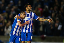 Goal, Anthony Knockaert of Brighton & Hove Albion gets number 5, Brighton & Hove Albion 5-0 Fulham - Mandatory byline: Jason Brown/JMP - 07966 386802 - 15/04/2016 - FOOTBALL - American Express Community Stadium - Brighton,  England - Brighton & Hove Albion v Fulham - Championship