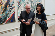 DAVID GILMOUR; POLLY  SAMSON, Royal Academy of Arts Summer Exhibition Preview Party 2011. Royal Academy. Piccadilly. London. 2 June <br /> <br />  , -DO NOT ARCHIVE-© Copyright Photograph by Dafydd Jones. 248 Clapham Rd. London SW9 0PZ. Tel 0207 820 0771. www.dafjones.com.