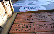 New York Mets pitcher Zack Wheeler's name is engraved in a brick at his East Paulding County High School baseball field in Powder Springs, Ga., Monday, Jan. 21, 2013.   (David Tulis)