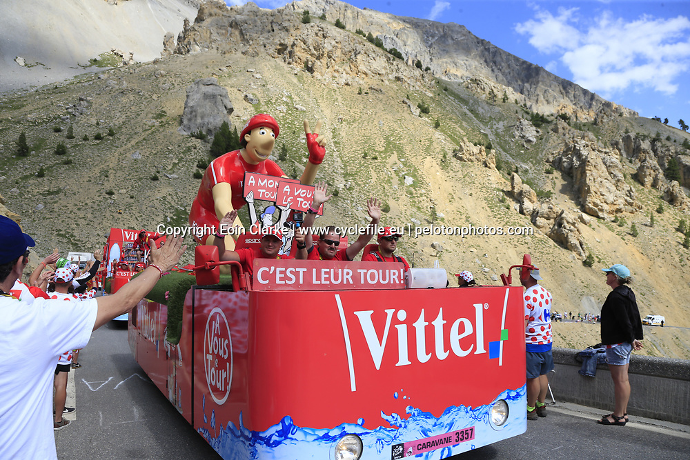 The publicity caravan on Col d'Izoard during Stage 18 of the 104th edition of the Tour de France 2017, running 179.5km from Briancon to the summit of Col d'Izoard, France. 20th July 2017.<br /> Picture: Eoin Clarke | Cyclefile<br /> <br /> All photos usage must carry mandatory copyright credit (&copy; Cyclefile | Eoin Clarke)