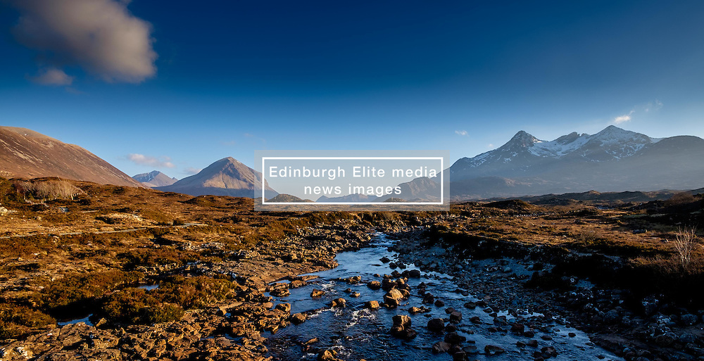 The River Sligachan with Marsco and the Cuillins beyond - Isle of Skye, Scotland<br /> <br /> (c) Andrew Wilson | Edinburgh Elite media