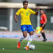 TOULON, FRANCE June 15.  Pedrinho #17 of Brazil in action during the Brazil U22 V Japan U22 Final match at the Tournoi Maurice Revello at Stade D'Honneur on June 15th 2019 in Toulon, Provence, France. (Photo by Tim Clayton/Corbis via Getty Images)