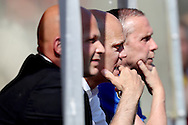 08-05-2016 VOETBAL:RODA JC - WILLEM II:KERKRADE<br /> Trainer/Coach Jurgen Streppel van Willem II teleurgesteld na afloop van de wedstrijd naast Adrie Bogers (R) en Raymond Vissers (L)<br /> <br /> Foto: Geert van Erven