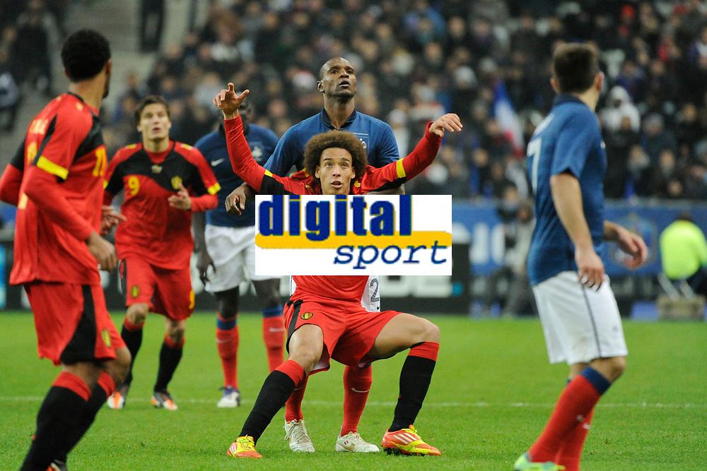 FOOTBALL - FRIENDLY GAME 2011 - FRANCE v BELGIUM - 15/11/2011 - PHOTO JEAN MARIE HERVIO / DPPI - AXEL WITSEL (BEL) / ERIC ABIDAL (FRA)