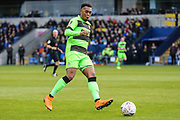 Forest Green Rovers Tahvon Campbell(14) during the The FA Cup 1st round match between Oxford United and Forest Green Rovers at the Kassam Stadium, Oxford, England on 10 November 2018.