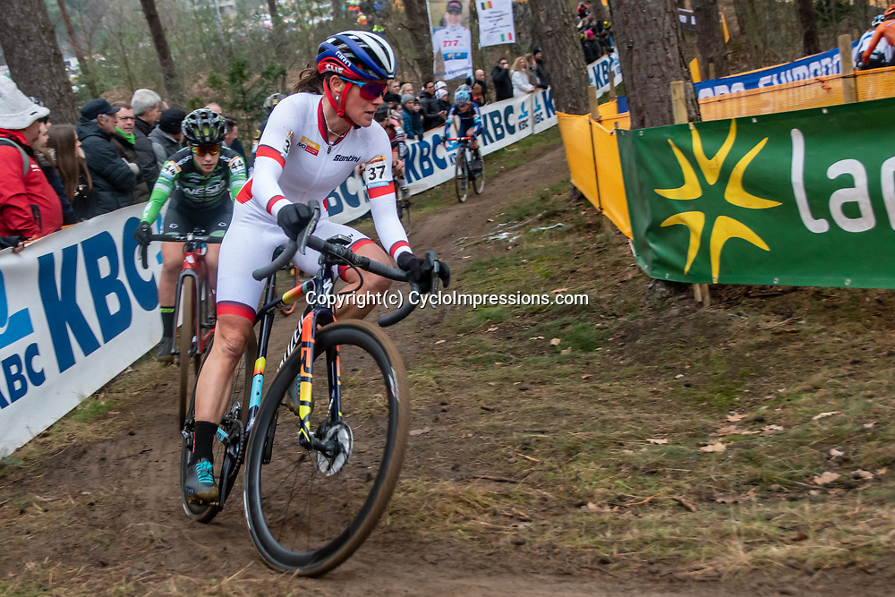 26-12-2019: Cycling: CX Worldcup: Heusden-Zolder: Katharina Nash trying to defend her leading positition in the GC