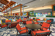 Comfortable and casual setting area in the Food Court of the new Tsawwassen Mills Mall in Ladner, BC