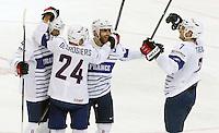 Joie Julien Desrosiers / Laurent Meunier- 09.05.2015 - Canada  / France  - Championnats du Monde de Hockey sur Glace 2015 -Prague<br />Photo : Xavier Laine / Icon Sport *** Local Caption ***