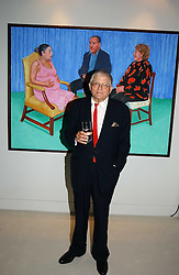 DAVID HOCKNEY at an exhibition of David Hockney portraits at the National Portrait Gallery sponsored by Burberry on 11th October 2006.<br /><br />NON EXCLUSIVE - WORLD RIGHTS