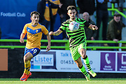 Forest Green Rovers Liam Shephard(2) on the ball during the EFL Sky Bet League 2 match between Forest Green Rovers and Mansfield Town at the New Lawn, Forest Green, United Kingdom on 19 October 2019.