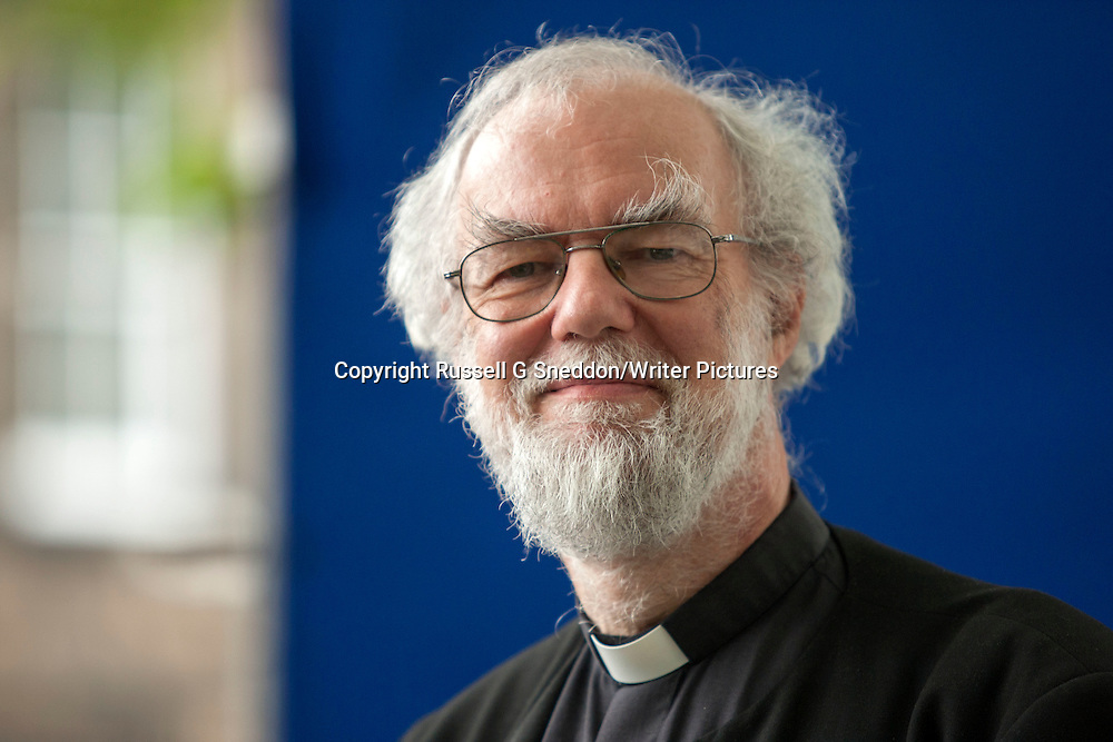 Rowan Williams at the Edinburgh International Book Festival 2013. 15th August 2013<br /> <br /> Picture by Russell G Sneddon/Writer Pictures
