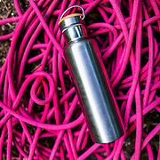Wabo water bottle and climbing rope