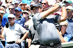 June 24, 2017 - Cromwell, Connecticut, U.S - Patrick Reed tees off the first tee during the third round of the Travelers Championship at TPC River Highlands in Cromwell, Connecticut. (Credit Image: © Brian Ciancio via ZUMA Wire)