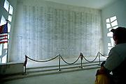 Image of the shrine at the USS Arizona Memorial at Pearl Harbor, Honolulu, Oahu, Hawaii, America West