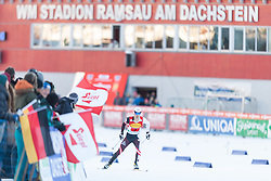 14.12.2013, Nordische Arena, Ramsau, AUT, FIS Nordische Kombination Weltcup, Langlauf Teamsprint, im Bild Lukas Klapfer (AUT) // Lukas Klapfer (AUT) during Team Sprint Cross Country of FIS Nordic Combined <br /> World Cup, at the Nordic Arena in Ramsau, Austria on 2013/12/14. EXPA Pictures © 2013, EXPA/ JFK