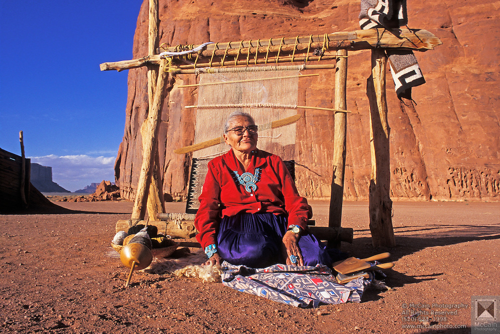 Susie Yazzie Rug Loom Monument Valley Navajo Tribal Park