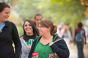 19072Students on Campus Fall..left to right:..Catherine Stine, Lauren Ortiz, and Chelsea Miller