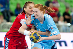 Lina Krhlikar of Slovenia during handball match between Women National Teams of Slovenia and Czech Republic of 4th Round of EURO 2012 Qualifications, on March 25, 2012, in Arena Stozice, Ljubljana, Slovenia. (Photo by Urban Urbanc / Sportida.com)