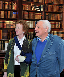 Mary Robinson and Jeremy Altamount pictured at Westport House on friday evening at the launch of Lord Altamount's memoir 'A Life at Westport House 50 Years A Going'.<br /> Pic Conor McKeown
