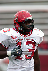 08 OCT 2005  WKU Hilltopper Andre Lewis.  The Illinois State University Redbirds roped and tied the Western Kentucky University Hilltoppers in regulation but loosened the noose in Overtime as the Hilltoppers take the honors with a 37 - 24 Victory in Gateway Conference action at Hancock Stadium on Illinois State's campus in Normal IL.