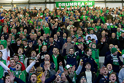 Supporters of Northern Ireland during EURO 2012 Quaifications game between National teams of Slovenia and Northern Ireland, on March 29, 2011, in Windsor Park Stadium, Belfast, Northern Ireland, United Kingdom. (Photo by Vid Ponikvar / Sportida)