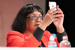 © Licensed to London News Pictures. 23/02/2019. Telford, UK. Diane Abbott on stage at the Labour Party Women's Conference in Telford. Photo credit: Dave Warren/LNP