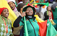 CAPE TOWN, SOUTH AFRICA- Thursday 24 June 2010, Cameroon supporters during the match between the Netherlands (Holland) and Cameroon held at the new Cape Town Stadium in Green Point during the 2010 FIFA World Cup..Photo by Roger Sedres/Image SA