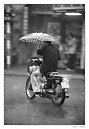 Hanoï, Vietnam under the rain
