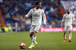 January 19, 2019 - Madrid, Madrid, Spain - Lucas Vazquez (Real Madrid) seen in action during the La Liga match between Real Madrid and Sevilla FC at the Estadio Santiago Bernabéu in Madrid. (Credit Image: © Manu Reino/SOPA Images via ZUMA Wire)