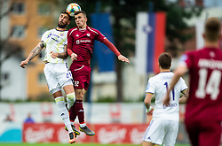 Amir Dervišević of Maribor vs Egzon Kryeziu of Triglav during Football match between NK Triglav and NK Maribor in 25th Round of Prva liga Telekom Slovenije 2018/19, on April 6, 2019, in Sports centre Kranj, Slovenia. Photo by Vid Ponikvar / Sportida