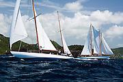Galatea at the Antigua Classic Yacht Regatta