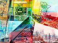 Target Center/ US Bank Stadium collage