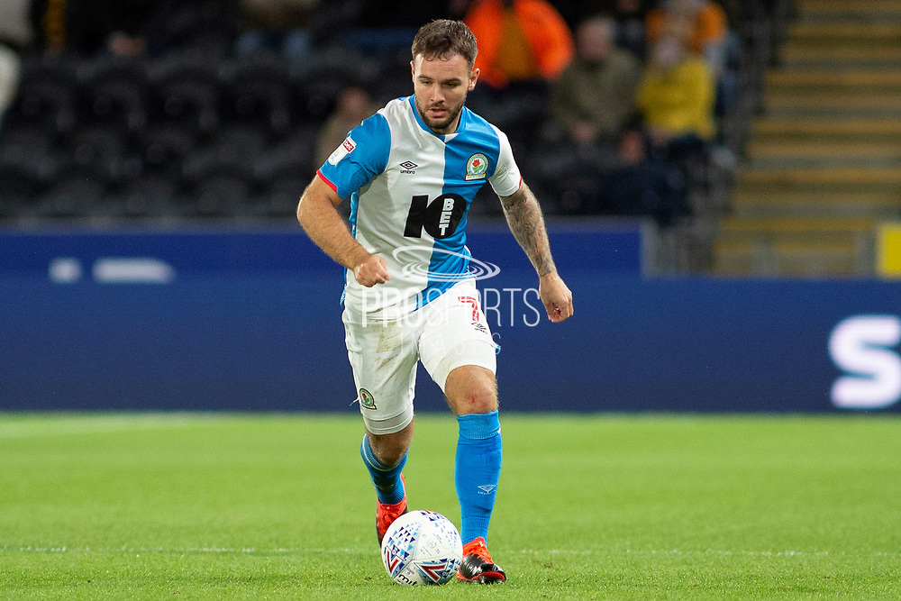 Adam Armstrong of Blackburn Rovers during the EFL Sky Bet Championship match between Hull City and Blackburn Rovers at the KCOM Stadium, Kingston upon Hull, England on 20 August 2019.