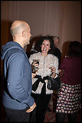 MARC QUINN; MOLLIE DENT-BROCKLEHURST James Franco talk and supper at Mansfield St. hosted by Maja Hoffmann. London. 23 November 2014