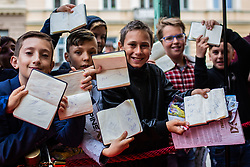 Kids with autographs during SPINS XI Nogometna Gala 2019 event when presented best football players of Prva liga Telekom Slovenije in season 2018/19, on May 19, 2019 in Slovene National Theatre Opera and Ballet Ljubljana, Slovenia. Photo by Grega Valancic / Sportida.com