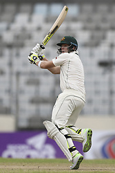 August 28, 2017 - Mirpur, Bangladesh - Smith  during day two of the First Test match between Bangladesh and Australia at Shere Bangla National Stadium on August 28, 2017 in Mirpur, Bangladesh. (Credit Image: © Ahmed Salahuddin/NurPhoto via ZUMA Press)