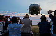 UNITED KINGDOM, Bedfordshire: 17 August 2016 The worlds largest aircraft known as the Airlander 10 takes off for it's first ever test flight at Cardington, Bedfordshire. The 300 foot long vessel was built by British aerospace firm Hybrid Air Vehicles. Rick Findler / Story Picture Agency