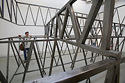 """12th Biennale of Architecture. Giardini. Biennale Pavillion. Christian Kerez, Switzerland. """"Some Structural Models and Pictures""""."""