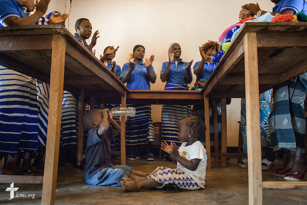 Students in the school for women sing together at the Lutheran Center for Theological Studies (CLET) on Wednesday, Feb. 15, 2017, in Dapaong, Togo. LCMS Communications/Erik M. Lunsford