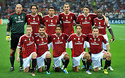 28.09.2011, Stadion Giuseppe Meazza, Mailand, ITA, UEFA CL, Gruppe H, ITA, UEFA CL, AC Mailand (ITA) vs FC Viktoria Pilsen (CZE), im Bild Milan Team.Formazione.. // during the UEFA Champions League game, group H, AC Mailand (ITA) vs FC Viktoria Pilsen (CZE) at Giuseppe Meazza stadium in Mailand, Italy on 2011/09/28. EXPA Pictures © 2011, PhotoCredit: EXPA/ InsideFoto/ Alessandro Sabattini +++++ ATTENTION - FOR AUSTRIA/(AUT), SLOVENIA/(SLO), SERBIA/(SRB), CROATIA/(CRO), SWISS/(SUI) and SWEDEN/(SWE) CLIENT ONLY +++++