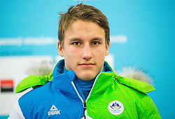Kristof Fabjan during presentation of Slovenian Young Athletes before departure to EYOF (European Youth Olympic Festival) in Vorarlberg and Liechtenstein, on January 21, 2015 in Bled, Slovenia. Photo by Vid Ponikvar / Sportida