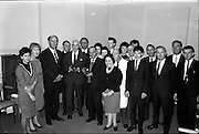 03/09/1963<br /> 09/03/1963<br /> 03 September 1963<br /> Presentations to staff at the Gramophone  Company Ltd., 23 Domnick Street, Dublin.
