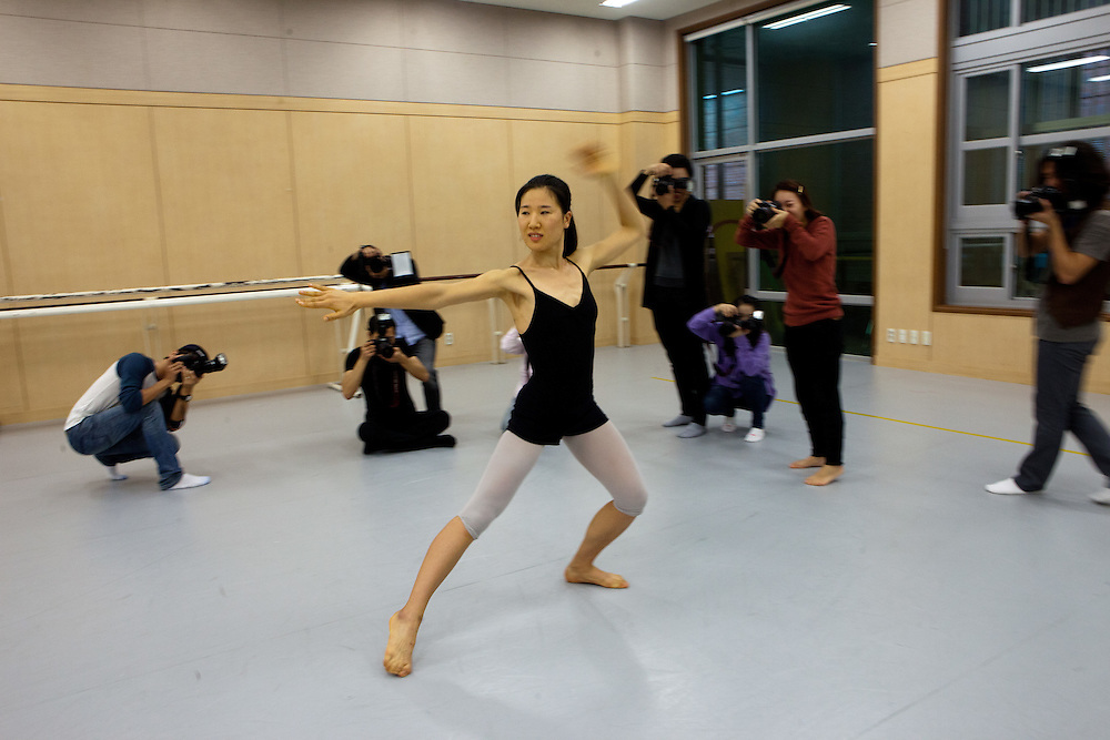 Students of photography during a workshop at the Dance Department of Keimyung University  in Daegu. Daegu, also known as Taegu and officially the Daegu Metropolitan City, is the third largest metropolitan area in South Korea, and by city limits, the fourth largest city with over 2.5 million people. The IAAF World Championships in Athletics will take place in Daegu from the 27th of August till the 4th of September 2011.